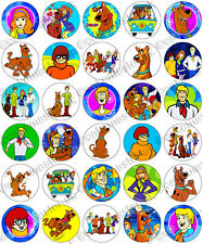 30 x Scooby Doo Party Collection Edible Rice Wafer Paper Cupcake Toppers