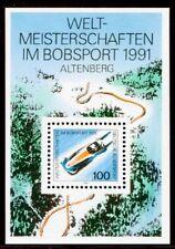 Bund  1496  Block 23 ** Bobsport Weltmeisterschaft 1991