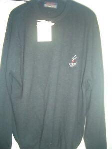 ladies peter scott black  golf jumper SIZE 40  with loch lomond gc motif