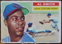 1956 Topps Baseball Card #105 Al Smith, Cleveland Indians - VG
