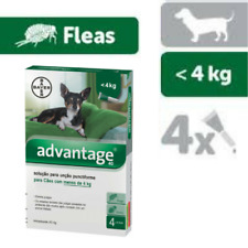 Bayer ADVANTAGE 40 for XS Dogs - 4 kg (1x0,4 ml / 4x0,4 ml) - 1 / 4Pipettes