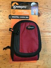 Lowepro Ridge 30 Compact Digital Camera Bag Case Storage + Strap NEW red