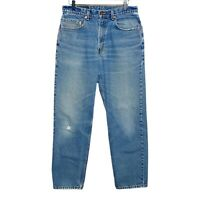 Levi's VTG 80s 550 Relaxed Fit Tapered Leg Distressed Jeans Mens 33x30