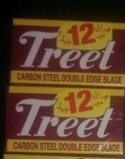 50 TREET CARBON STEEL DOUBLE EDGE BLACK BEAUTY BLADE BARBER SHAVING RAZORS