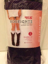 Bootights - Gameday Collection - Darby's Boot Socks - 2 Pairs - Purple/Black