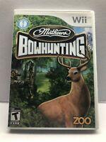 (MF) Mathews Bowhunting Nintendo Wii WiiU GAME COMPLETE MANUAL WILDGAME ELK DEER