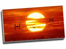 Tie Fighters Sunset Star Wars Canvas Print 30x16""