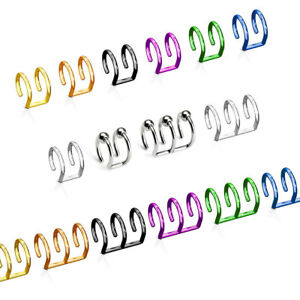 Ohrklemme Ear Cuff Helix Cartilage Fake Piercing Ohrringe Ohr Stecker Clip Bügel
