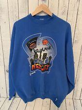 VTG ORLANDO MAGIC B-Ball Rules Crew Neck Pullover Sweatshirt Blue XL TALL Logo 7