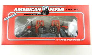 AMERICAN FLYER/Lionel S Scale 6-48509 Flatcar w/Die Cast Farm Tractors~NIB~ T139