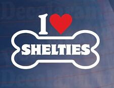 I Love/Heart Shelties' Fantaisie Os Voiture/Sticker Camion Idéal pour