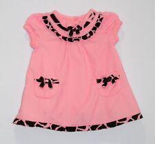 "Gymboree ""Glamour Giraffe"" Giraffe Print Ruffles Bows Pink Corduroy Dress, 0-3 m"