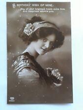 "Vintage Early 1900's Greetings Birthday Postcard ""BIRTHDAY WISH OF MINE"""