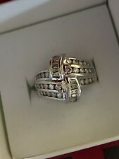 1 CT 10k White Gold Diamond Ring sz 6