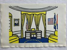 ROY LICHTENSTEIN - lithograph signed on original paper of 90's