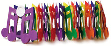 Coloured Notes Garland - Music Gift - Music Themed Hanging Garland