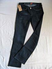 Earnest Sewn Donna Blue Jeans Stretch w25/l34 Low Waist Slim Fit Bootcut LEG