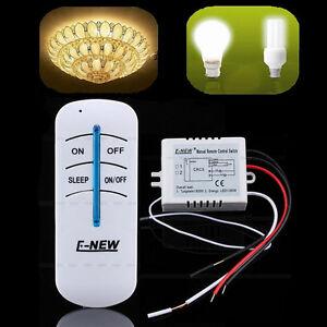 1-Way 220V ON/OFF Wireless Digital Remote Control Light Wall Switch 300W/600W