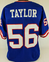 Lawrence Taylor Unsigned Custom Sewn Blue Football Jersey Size  L, XL, 2XL