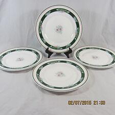Arcopal Misty Meadow salad plates set 4 porcelain floral pink blue green France
