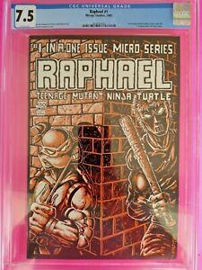 RAPHAEL #1 CGC 7.5 1st app. of CASEY JONES Mirage Studios (NO RESERVE)