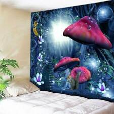 Magic Fantasy Mushroom Tapestry Wall Hanging Blanket Home Tapestry Wall Decor US