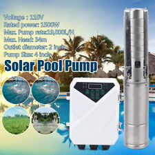 New Listing4 Dc Solar Water Well Pump Deep Submersible Withmppt Controller For Outdoor Pool