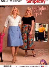Simplicity Sewing Pattern 8612 Womens Flared Wrap Skirt Easy To Sew Size 26W-34W