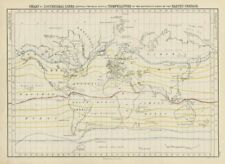 Carta mundial de temperatura isotérmico Líneas. medio anual. George Aikman 1856 Mapa