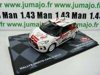 RMIT27F 1/43 IXO Rallye Monte Carlo : CITROËN DS 3 R3 2013 Crugnola #83