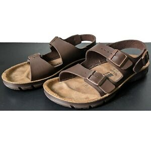 Birkenstock Tatacoa 41 EU 8 US Slip Resistant Brown Birko-flor Strap Sandals