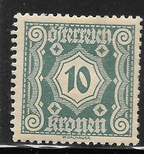 AUSTRIA, Postage Due, 1922, 10kr