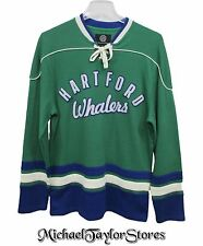 Hartford Whalers NHL Men's L G-III Defenseman Knit Rib Crew Lace Sweater A12MRB