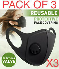 Pack of 3 Face Mask Reusable Washable Breathable Unisex