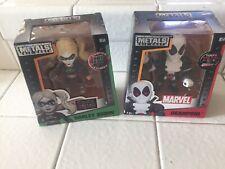 2 Metals Diecast Marvel Deadpool M55 & DC Suicide Squad Harley Quinn M166