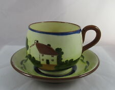 Antique Watcombe Torquay Pottery Mottoware Tea Cup&Saucer Its Very Refreshing