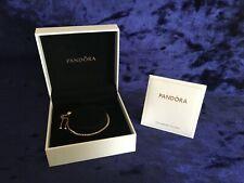 Pandora Sparkling Rose Gold Tennis Slider Bracelet (Gift Sets Available)