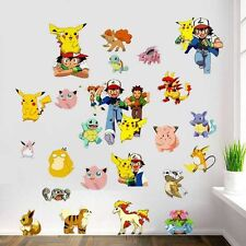 POKEMON PIKACHU WALL STICKER Pocket Monster Vinyl Decals Mural Kids Room Decor