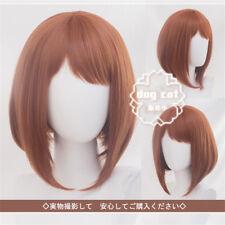 My Boku no Hero Academia Ochako Uraraka Cosplay Wig Short Hair + Wig cap