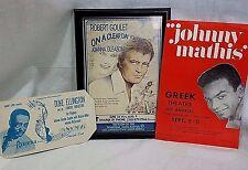 Johnny Mathis Duke Ellington Robert Goulet Hollywood Entertainment Lot