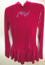Mondor Girls Velvet Skating Dress Red Size 6-8 (marked 12-14)