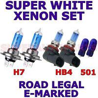 SET H7 H7 501 SUPER WHITE XENON HEAD LIGHT BULBS FITS MERCEDES CLA CLASS 2013