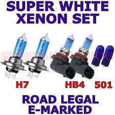 BMW 5 SERIES ESTATE HID 2004-2006 SET HB4 H7 501 W5W XENON LIGHT BULBS