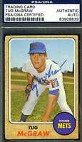 Tug Mcgraw 1968 Topps Psa/dna Coa Signed Original Authentic Autograph