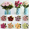 Roses Artificial Silk Flower Fake Peonies Floral Bouquet Home Wedding Decoration