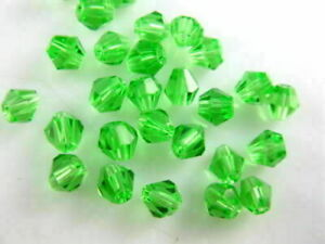 Pretty 100Pcs Glass Crystal Faceted Bicone Spacer Beads Jewelry Findings 4mm#