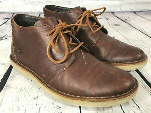 BORN Wayz Brown Leather Ankle Chukka Boots Size 11 / 45
