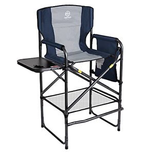 Coastrail Outdoor Tall Director Chair 400 lbs Padded Foldable Bar Height Makeup