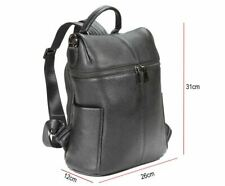 Leather iPad Tablet Bucket Backpack in Black - FI6710