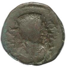 BYZANTINE BROZNE COIN FOLLIS JUSTINIAN I NIKOMEDIA MINT LARGE M AE29 17,27g